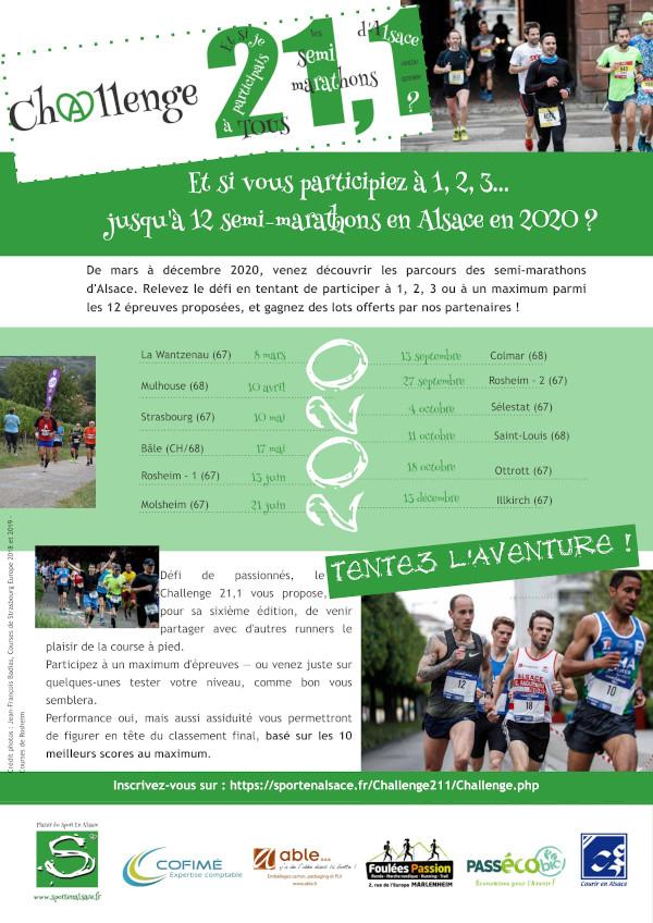 Challenge 21,1 des semi-marathons d'Alsace