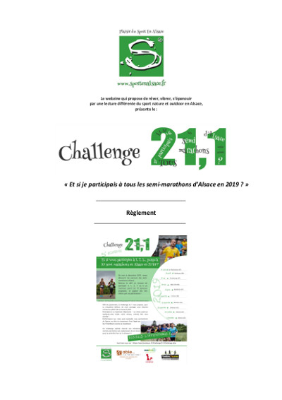 tableau d'attribution des points, challenge semi-marathons 2019