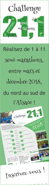 Inscrivez-vous au Challenge 21,1 !
